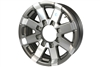 "16"" Aluminum Spoke Rim - Gray Accent 8-lug on 6.5"""