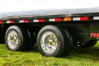 "17.5"" 8 lug on 6.5"" Dual Aluminum Modular Trailer Wheel Upgrade Kit"