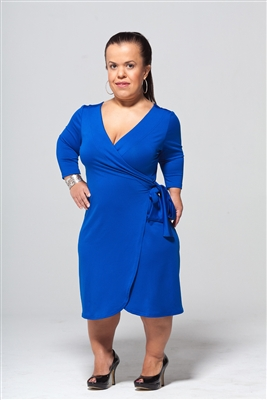 Royal Blue Wrap Dress