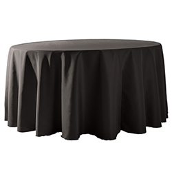 "120"" Round Polyester Table Cloths - 10/Box"