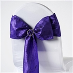 Crinkle Taffeta Chair Sash - Purple