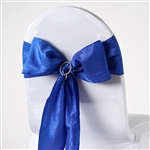Crinkle Taffeta Chair Sash - Royal Blue
