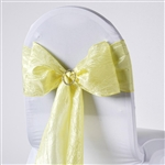 Crinkle Taffeta Chair Sash - Yellow