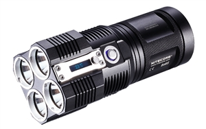 NiteCore TM26 Tiny Monster Triple XM-L Flashlight -3800 Lumens -