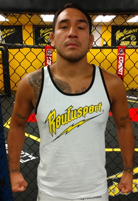 "NEW! Roufusport Classic Bolt White Tank as worn by Bellator MMA Star Manny ""El Matador"" Sanchez"