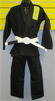 Roufusport Custom Black Gi-INCLUDES FREE WHITE BELT