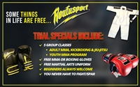 "ROUFUSPORT'S ADULT & KIDS TRIAL SPECIALS: A GREAT WAY TO ""TRY OUT"" ROUFUSPORT (AND GET FREE STUFF!)"