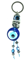 Evil Eye Key Chain with Two Eyes and Two Rings - 5.5''