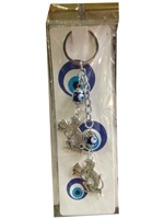 Two Chain Monkeys Evil Eye Nazar Key Chain