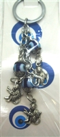 Three Monkeys Chain Evil Eye Nazar Key Chain
