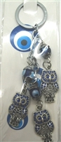 Three Owl Chain Evil Eye Key Chain