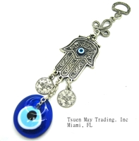 Evil Eye Small Hand Amulet - Hanging - 6.5''