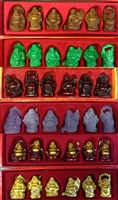 Laughing Buddha 2 Inch Statues (Set of 6 Figurine) - Choose Color
