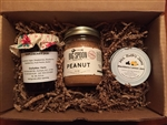 Peanut Butter Jelly Time! A gift box of Big Spoon Roasters Peanut Butter and two homemade jams