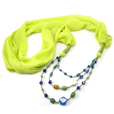 multi colored necklaces