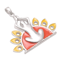 Prayer Pose  Silver pendant