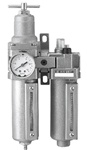 "Filter Regulator Lubricator (FRL), Stainless Steel Case - 1/4"" Port Size"