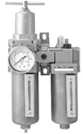 "Filter Regulator Lubricator (FRL), Stainless Steel - 1/2"" Port Size"