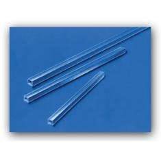 Borosilicate Square Tubing 1 foot long, 13.00 mm ID, 1.00 mm Wall