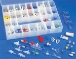 Luer Valve Assortment Kit over 200 assorted parts