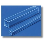 Clear Fused Quartz Glass Square Tubing, 13.00 mm ID and 1.30 mm Wall,