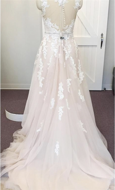 Beaded Wedding Dress with Straps