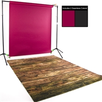 Crimson, Black & Worn Planks Seamless / Floordrop Kit