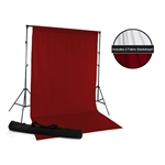 Red & White Fabric Backdrop Kit