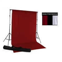 Red, Black, & White Fabric Backdrop Kit