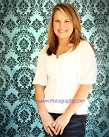 Teal & Black Damask Fabric Backdrop