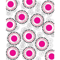 Retro Pink Circles Printed Backdrop