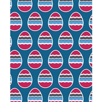 Pink, White & Blue Eggs Printed Backdrop