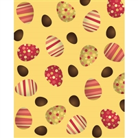 Red Easter Eggs Printed Backdrop