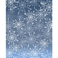 Gray Snowflake Printed Backdrop
