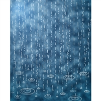 Raindrops Printed Backdrop