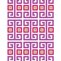 Purple Greek Designs Printed Backdrop