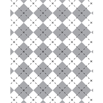 Gray & White Argyle Printed Backdrop