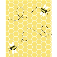 Honey Bee Printed Backdrop