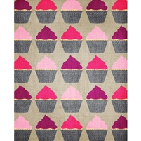 Red & Pink Cupcakes Printed Backdrop