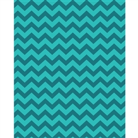 Teal Shades Chevron Printed Backdrop