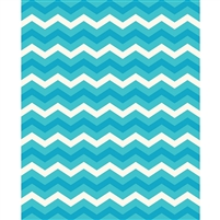 Ocean Blue Chevron Printed Backdrop
