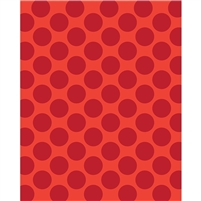 Red & Orange Polka Dot Printed Backdrop
