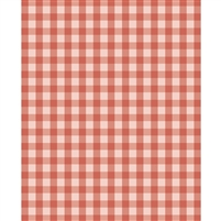 Fall Orange Plaid Printed Backdrop