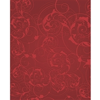 Red Floral Swirls Printed Backdrop