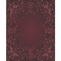 Maroon Antique Vine Printed Backdrop