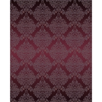 Maroon Damask Printed Backdrop
