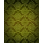 Green Damask Printed Backdrop