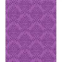 Tonal Fuschia Damask Printed Backdrop