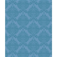 Tonal Blue Damask Printed Backdrop