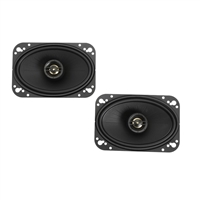 "Black Polk Audio DXi461 4""x6"" 120 Watts Coaxial Car Speakers"